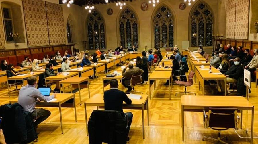 Bild der konstituierenden Sitzung des Integrationsrates 2020