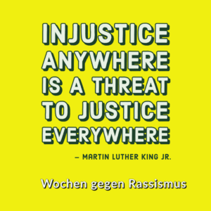Poster zu einem Zitat von Martin Luther King Jr.